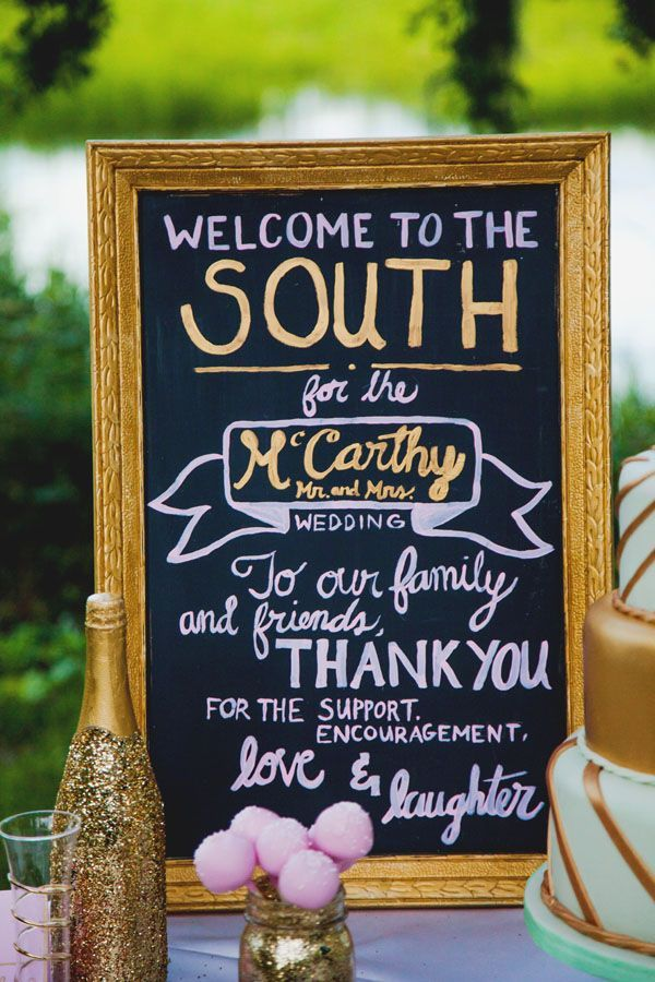 Hand Painted Chalkboard Sign